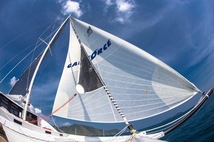 Doyle sailmaker world spinnaker white