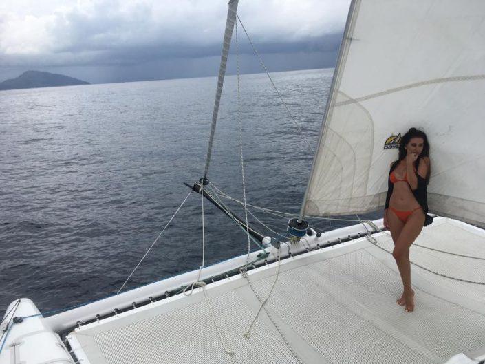 sails jib white girl